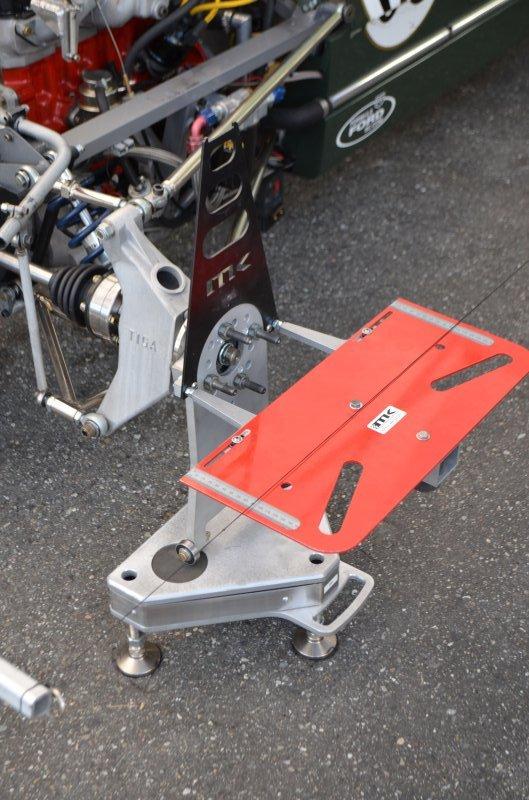 Toe/Camber Board on Rear Setup Wheel